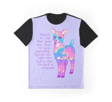 """Every Step Forward is Progress"" Sunset Deer Graphic T-Shirt"