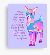 """Every Step Forward is Progress"" Sunset Deer Canvas Print"