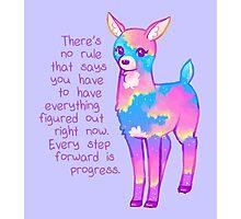 """Every Step Forward is Progress"" Sunset Deer Photographic Print"