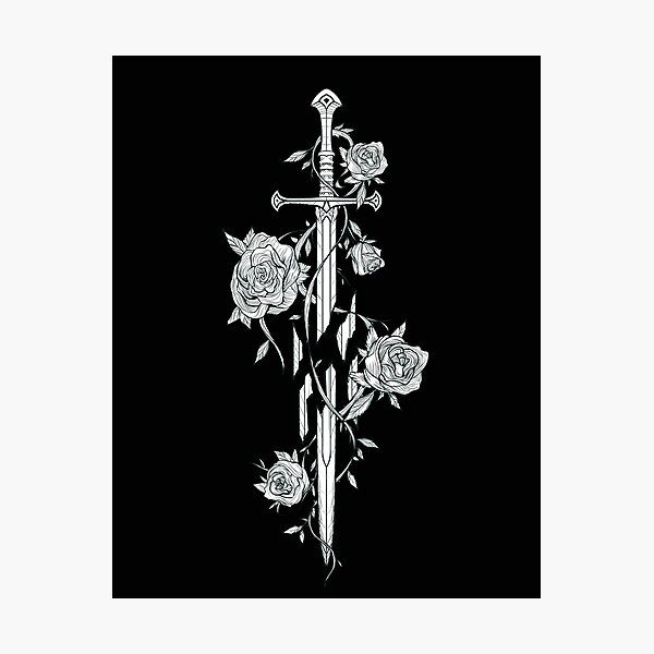 Roses of the Broken Sword Photographic Print