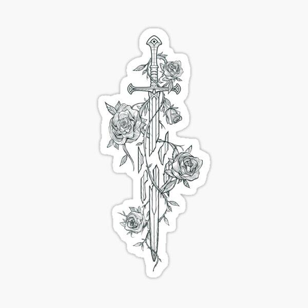 Roses of the Broken Sword Sticker