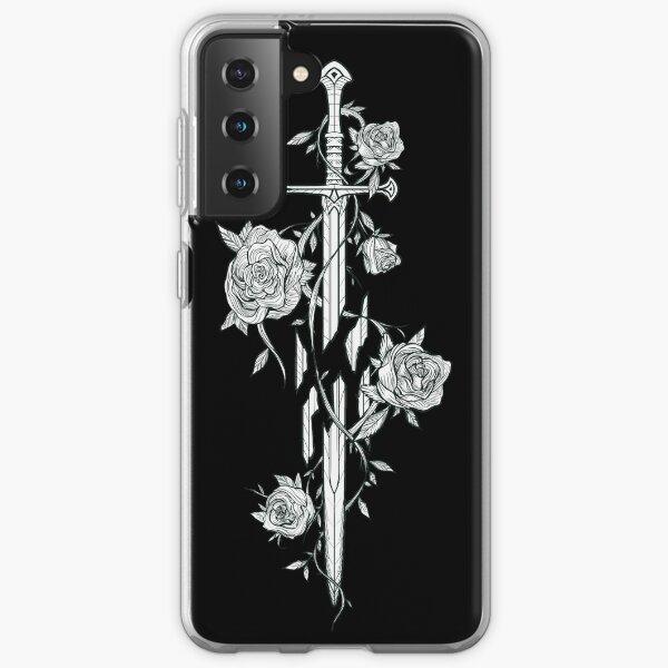 Rosas de la espada rota Funda blanda para Samsung Galaxy