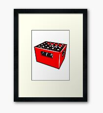 Beer drinking booze box Framed Print