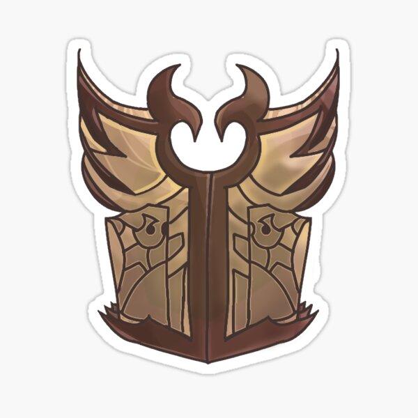 Arena Hendriks shield Logo Design by Clauxtrophobic_art Sticker
