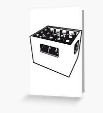 Beer drinking booze box Greeting Card