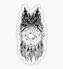 Dreamy Owl_Black Sticker