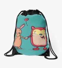 Retro Besties Drawstring Bag