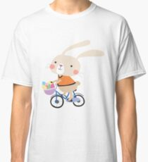 Holidays Easter Bunny on Bicycle With Eggs Classic T-Shirt