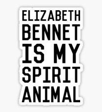 Elizabeth Bennet_Black Sticker