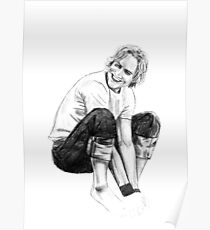 Heath Ledger Drawing Poster