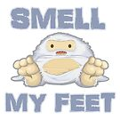 Cute Yeti Funny Smell My Feet by doonidesigns
