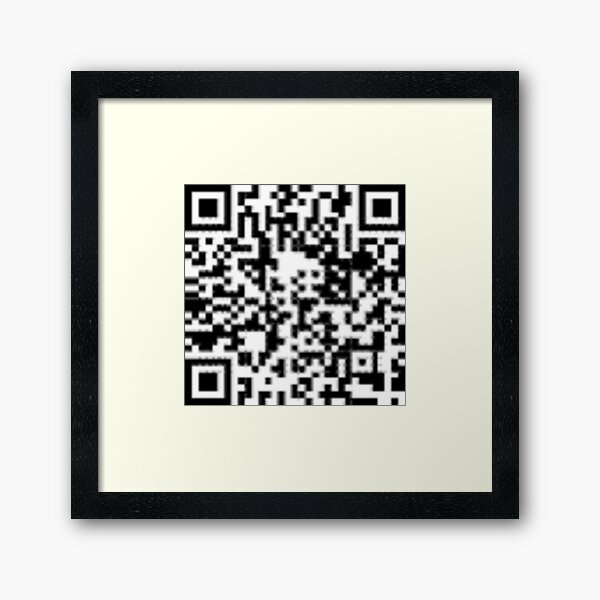 QR code: Donate Framed Art Print