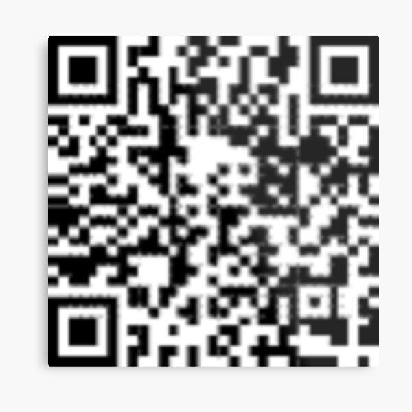 QR code: Donate Metal Print
