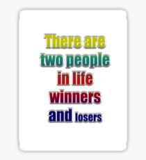Winners losers Sticker