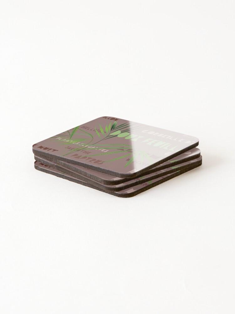 Dessous de verre (lot de 4) ''Kentia sur fond terracota': autre vue