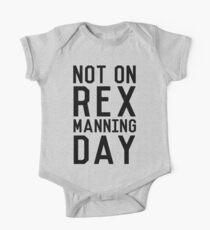 Rex Manning Day_Black One Piece - Short Sleeve