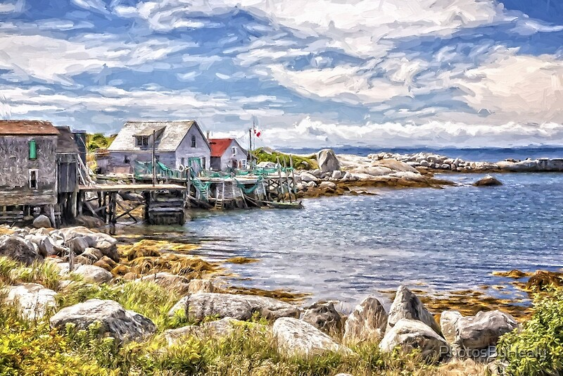 Indian Harbour - painted by Photos by Healy