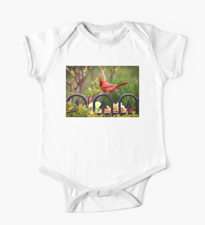 Male Red Cardinal in the Garden Kids Clothes