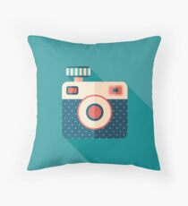 Camera with Flash Throw Pillow