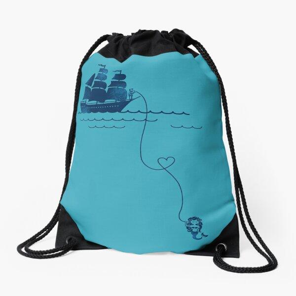 Long Distance Love Drawstring Bag