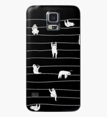 Faultier-Streifen Hülle & Klebefolie für Samsung Galaxy