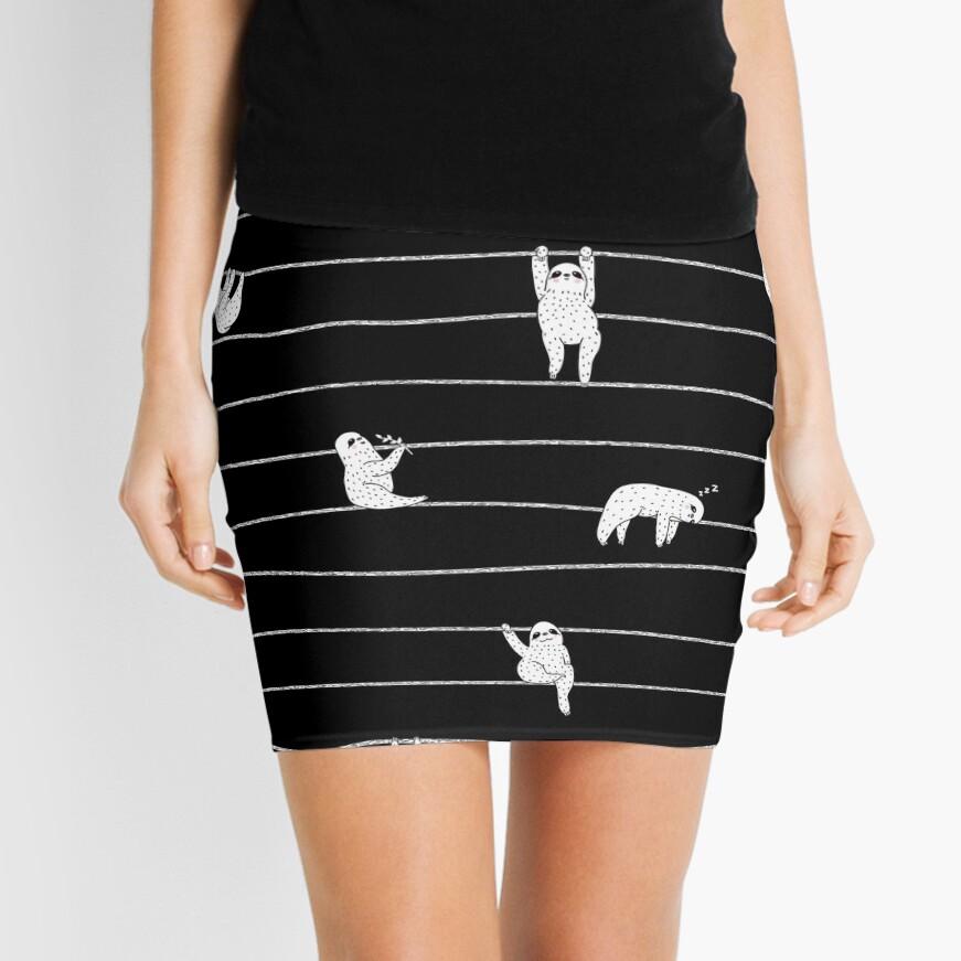 Sloth Stripe Mini Skirt