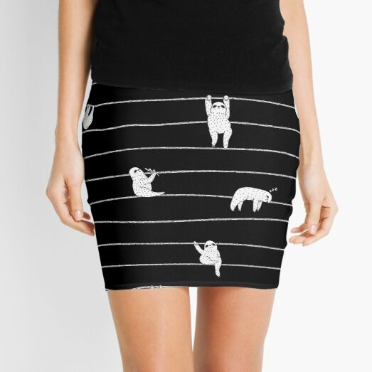 Sloth Stripe Mini Skirt