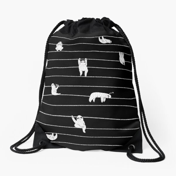 Sloth Stripe Drawstring Bag