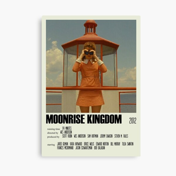 Moonrise Kingdom Alternative Poster Art Movie Large (1) Canvas Print