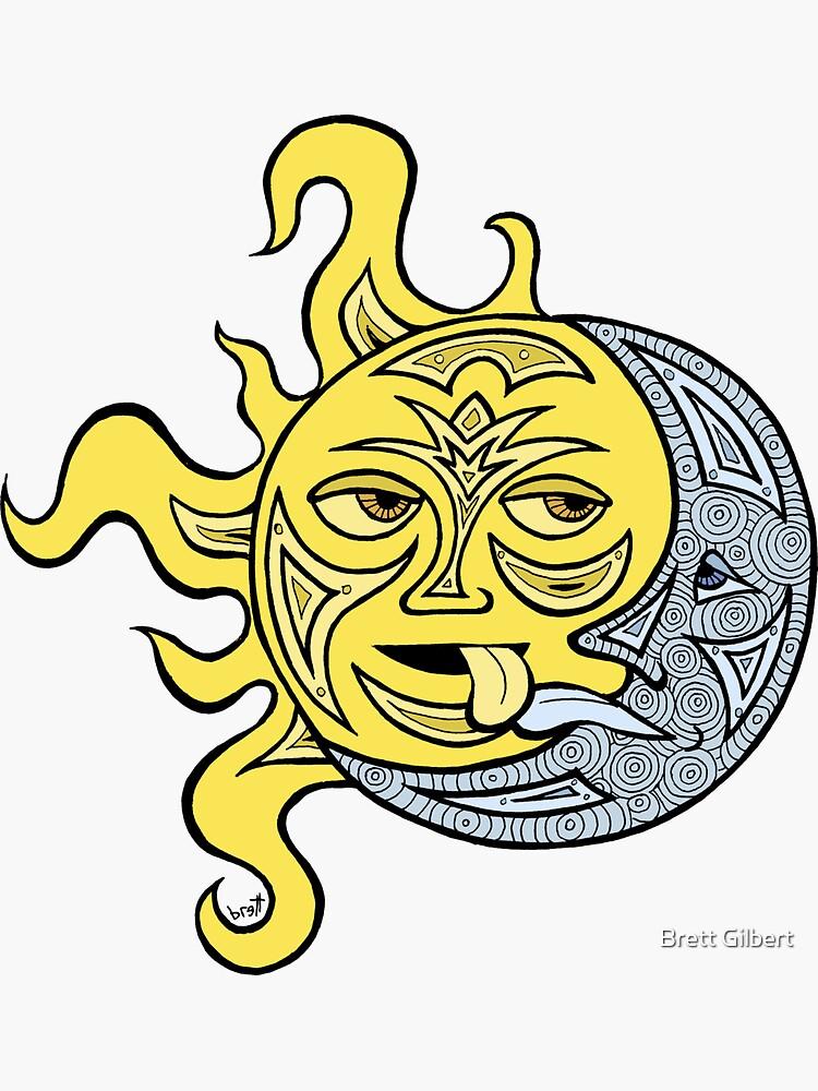 Kissing Sun and Moon by bgilbert