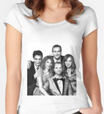 How I Met Your Mother Drawing Women's Fitted Scoop T-Shirt