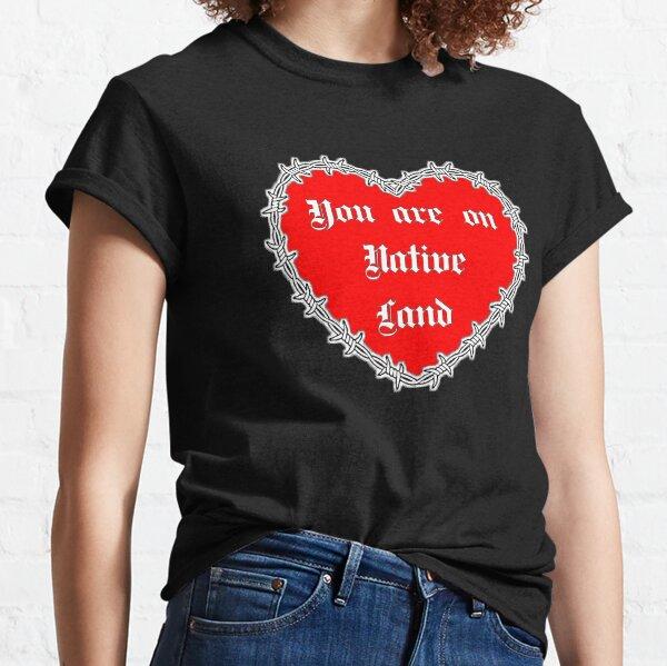 Coeur de la Saint-Valentin Native Land T-shirt classique