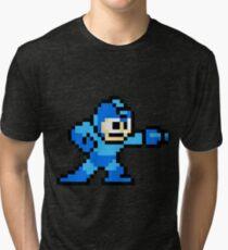 Mega Man Game 8-Bits Tri-blend T-Shirt