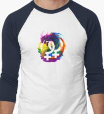 Lesbian Pride Dragon Men's Baseball ¾ T-Shirt