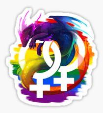 Lesbian Pride Dragon Sticker