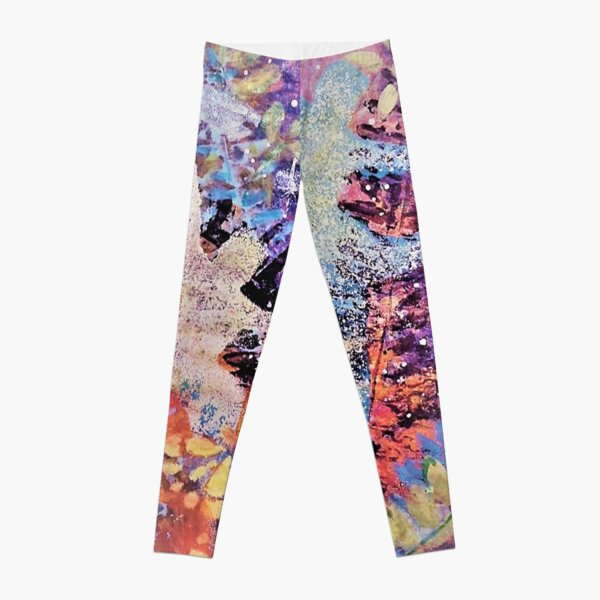Dancer and yellow butterfly Leggings