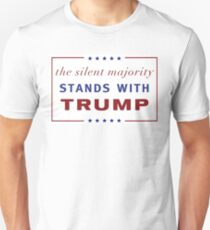 The Silent Majority Stands With Trump Unisex T-Shirt