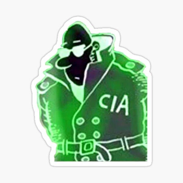 CIA glowing agent Sticker