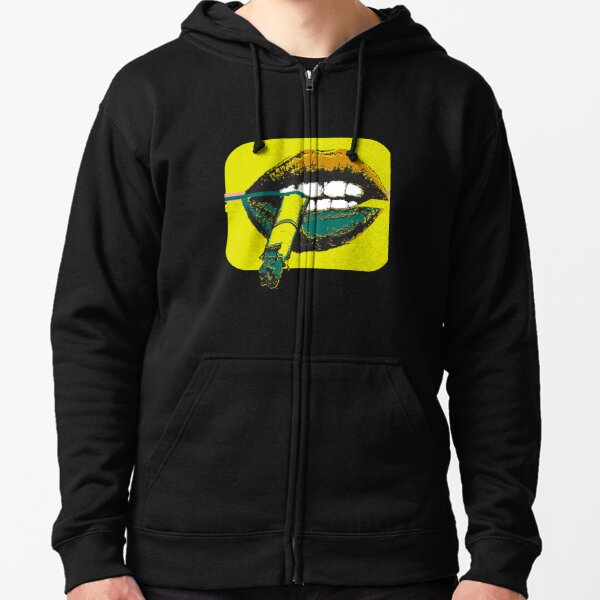Brights Lips and Cigs  Zipped Hoodie