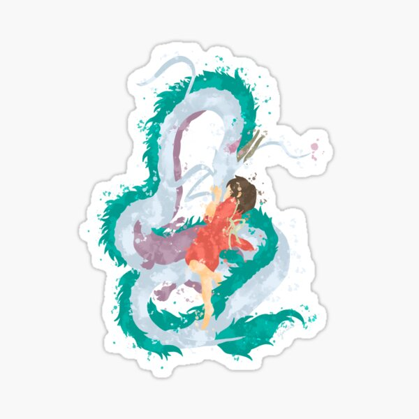 Love of a girl and her Water Spirit Sticker