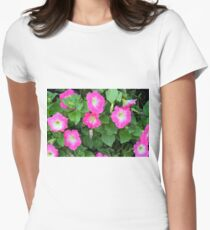 Purple flowers, natural background. Women's Fitted T-Shirt