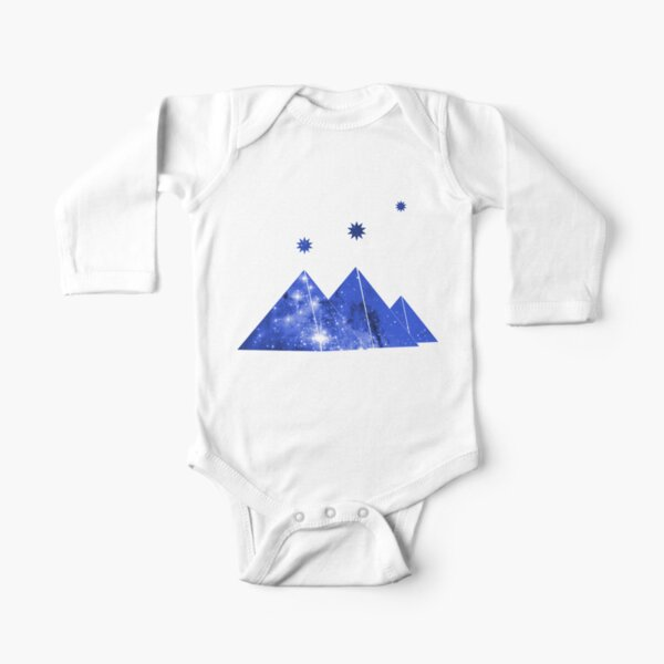 Cosmos Pyramids Orion's Belt Correlation  Long Sleeve Baby One-Piece