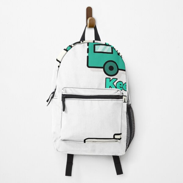 Vanlife man woman on the move unisex T-shirt  Backpack
