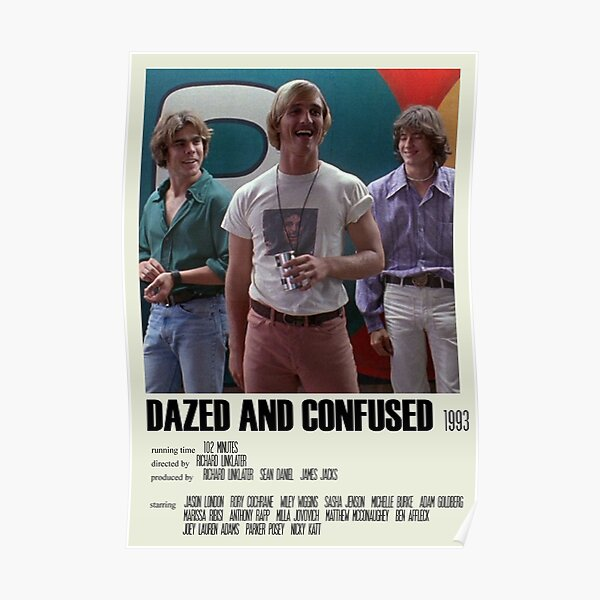 Dazed and Confused Alternative Poster Art Movie Large (2) Poster