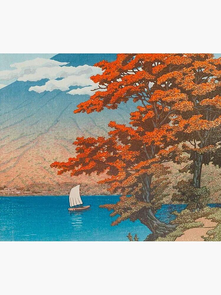 Lake Chûzenji at Nikkô by Kawase Hasui Vintage Japanese Woodblock Print East Asian Cultural Art by Ejaaz