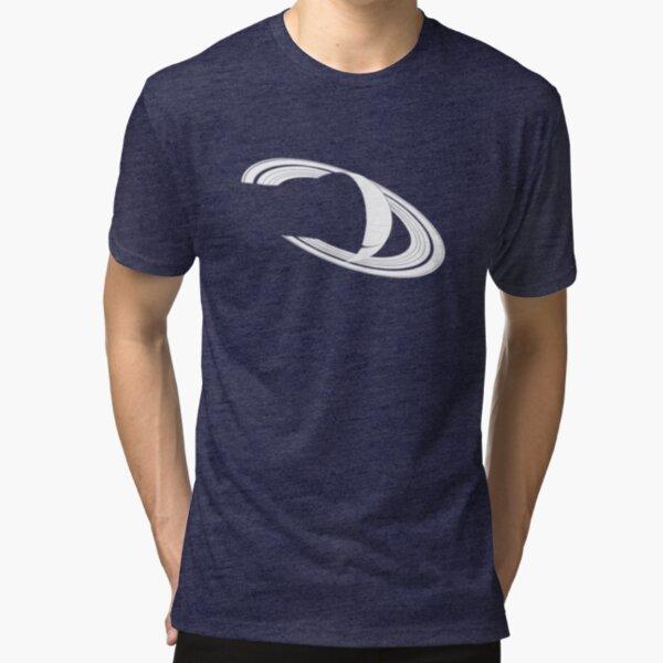 White Saturn Tri-blend T-Shirt