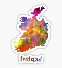 Ireland in watercolor Sticker