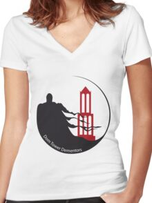 Dom Tower Dementors Quidditch Women's Fitted V-Neck T-Shirt