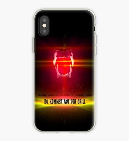 BlackDiamond famous last words - YOU COME ON THE GRILL iPhone Case