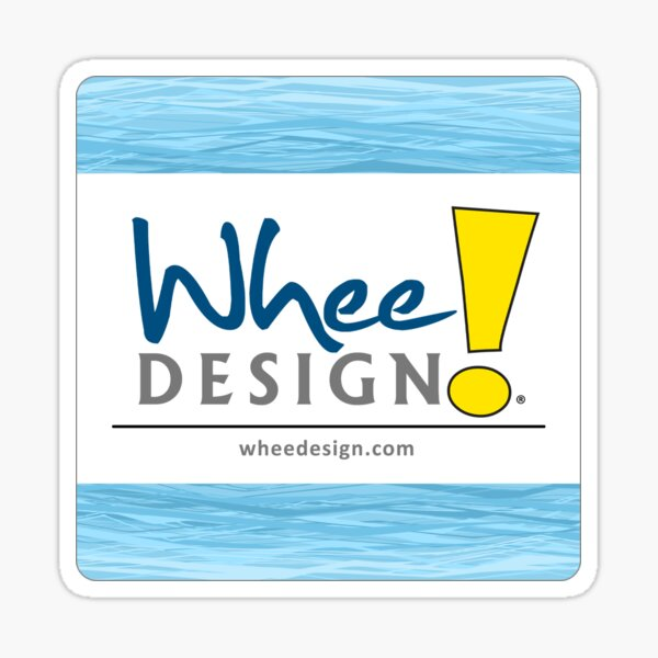 Whee! Design Logo Sticker